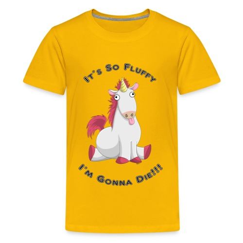 Fluffy unicorn tee - Kids' Premium T-Shirt
