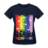 Women's T-Shirts ~ Women's T-Shirt ~ rainbow rainy day Women's T-Shirt