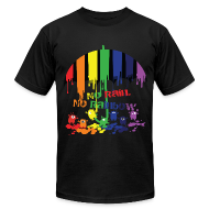 T-Shirts ~ Men's T-Shirt by American Apparel ~ Rainbow monsters Men's T-Shirt by American Apparel