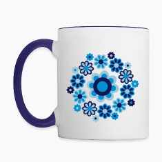 Floral Mandala by Cheerful Madness!! Mugs & Drinkware