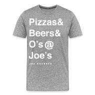 T-Shirts ~ Men's Premium T-Shirt ~ pizzas&beers&joe's men's grey