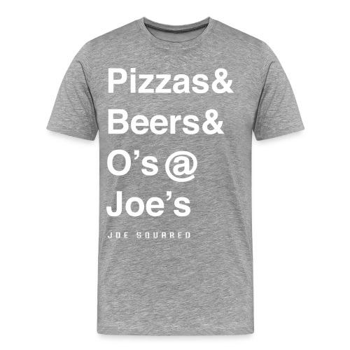 pizzas&beers&joe's men's grey - Men's Premium T-Shirt