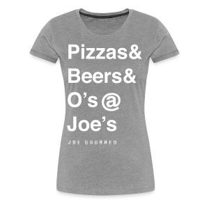 pizzas&beers&joe's women's grey - Women's Premium T-Shirt