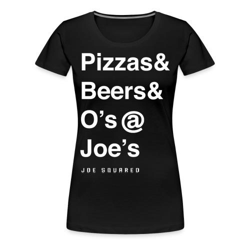 pizzas&beers&joe's women's - Women's Premium T-Shirt