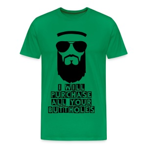 EV Purchase Buttholes Mens Green - Men's Premium T-Shirt