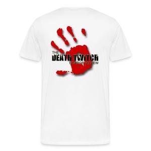 Men's large bloody hand logo back - Men's Premium T-Shirt