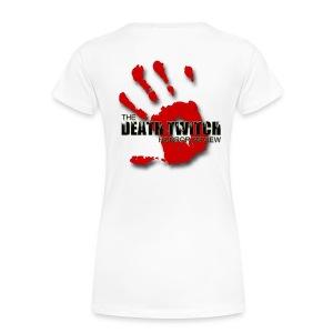 Women's large bloody hand print on back - Women's Premium T-Shirt