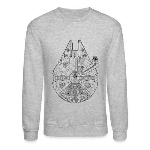 Millennium Falcon Sweatshirt - Crewneck Sweatshirt