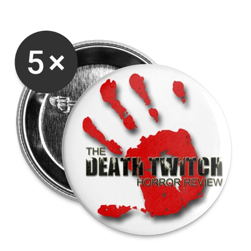 Death Twitch bloody hand pins - Large Buttons