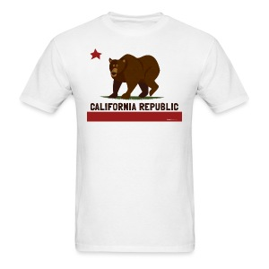 California Republic Bear - Men's T-Shirt