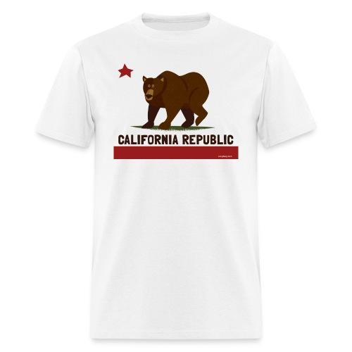 California Republic Bear - Men's T-Shirt