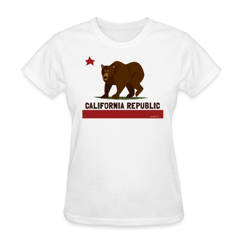 California Republic Bear - Women's T-Shirt