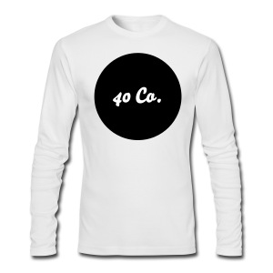 40 Co. Long Sleeve Shirt [White] - Men's Long Sleeve T-Shirt by Next Level