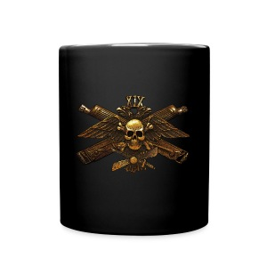 Imperial Fighter Skull w/ Crossed Machine Guns Coffee Mug - Full Color Mug