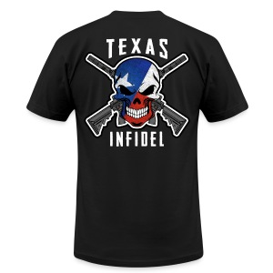2015 Texas Infidel  - Men's T-Shirt by American Apparel