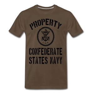 Property Confederate States Navy Premium Mens T - Men's Premium T-Shirt