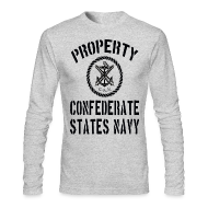 Long Sleeve Shirts ~ Men's Long Sleeve T-Shirt by American Apparel ~ Property Confederate States Navy Long Sleeve American Apparel T