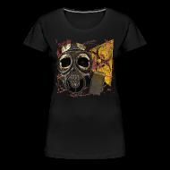 Women's T-Shirts ~ Women's Premium T-Shirt ~ Biohazard Skull Gas Mask Womens Premium T