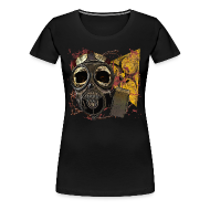 T-Shirts ~ Women's Premium T-Shirt ~ Biohazard Skull Gas Mask Womens Premium T