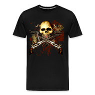 T-Shirts ~ Men's Premium T-Shirt ~ Sixgun Skull Mens T Shirt