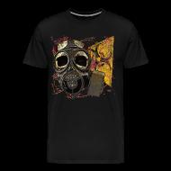 T-Shirts ~ Men's Premium T-Shirt ~ Biohazard Skull Gas Mask Mens Premium T