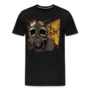 Biohazard Skull Gas Mask Mens Premium T - Men's Premium T-Shirt