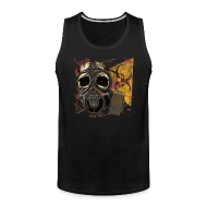 Sportswear ~ Men's Premium Tank ~ Biohazard Skull Gas Mask Mens Premium Tank Top