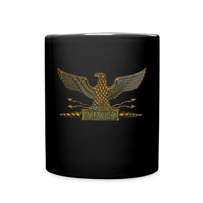 Hellacious Designs Copper Roman Legion Eagle Coffee Cup Full