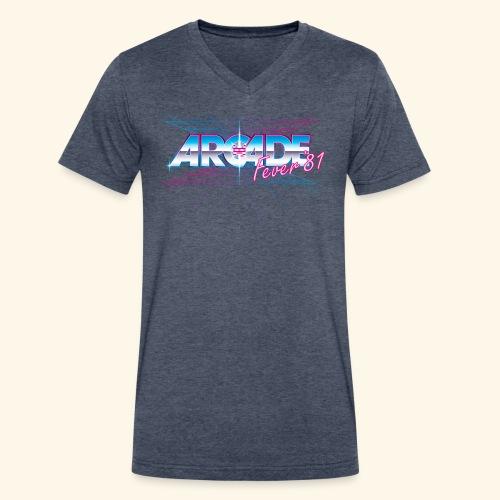 Arcade Fever 81 - Men's V-Neck T-Shirt by Canvas