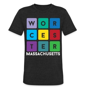 Worcester Mass - Unisex Tri-Blend T-Shirt by American Apparel