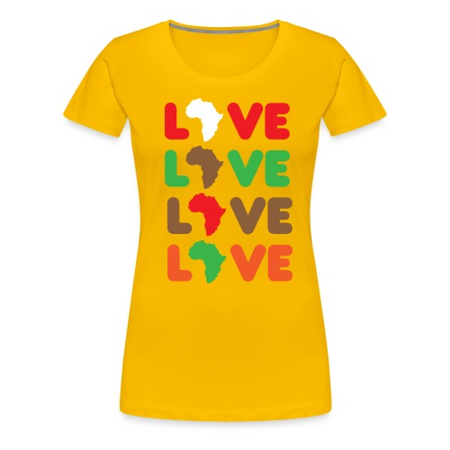 Love Africa Tee - Women's Premium T-Shirt