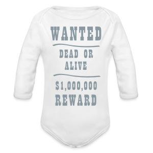 wanted - Long Sleeve Baby Bodysuit