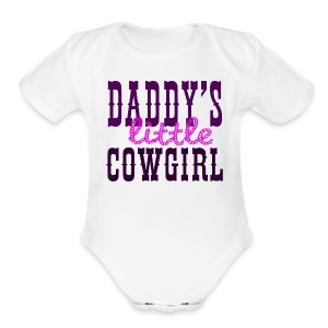 daddy's little girl - Short Sleeve Baby Bodysuit