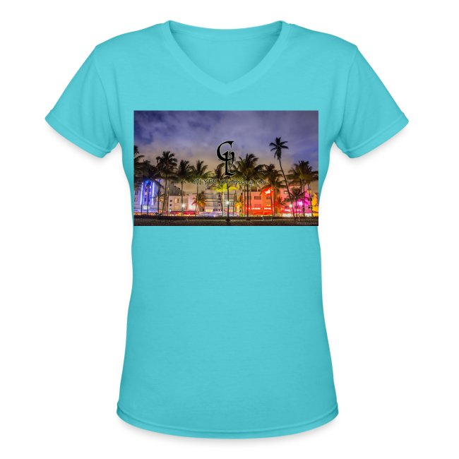 G Lyfe South Beach Edition Womens Vneck T Shirt