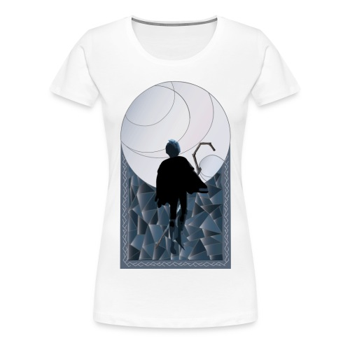 Jack Frost Stained Glass - Women's Premium T-Shirt