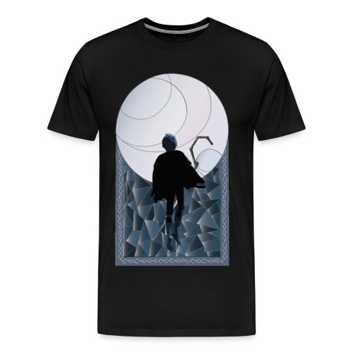 Jack Frost Stained Glass - Men's Premium T-Shirt