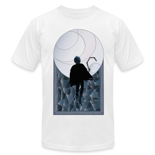 Jack Frost Stained Glass - Men's Fine Jersey T-Shirt