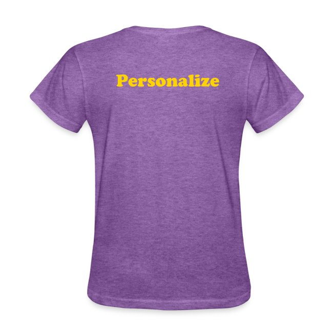 Kansas Women's Relaxed Fit T-shirt *Personalize Name*