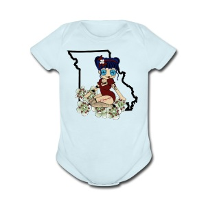 Missouri Baby Short Sleeve One Piece - Short Sleeve Baby Bodysuit