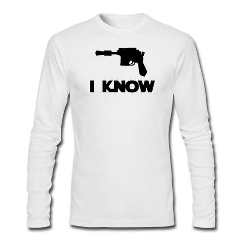 I Know_Star Wars Couple - Men's Long Sleeve T-Shirt by Next Level