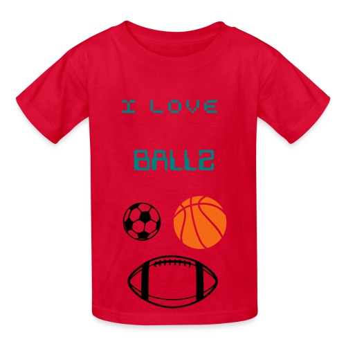 I LOVE BALLZ Kids Tee - Kids' T-Shirt