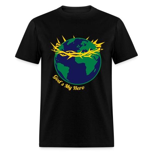 God's My Hero - Men's T-Shirt