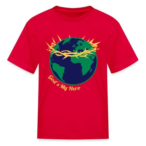 God's My Hero (Youth) - Kids' T-Shirt