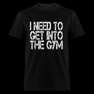 T-Shirts ~ Men's T-Shirt ~ GetIntoGym w/light art