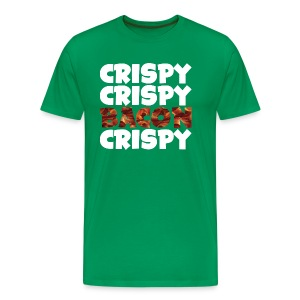 Men's Crispy, Crispy, Bacon, Cripsy (White) - Men's Premium T-Shirt