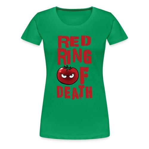 Women's Red Ring of Death - Women's Premium T-Shirt