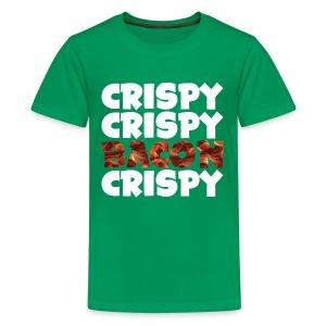 Kid's Crispy, Crispy, Bacon, Cripsy (White) - Kids' Premium T-Shirt