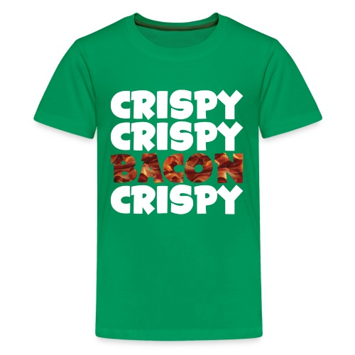 Kid's Crispy, Crispy, Bacon, Cripsy (White) - Kids' Premium T-Shirt