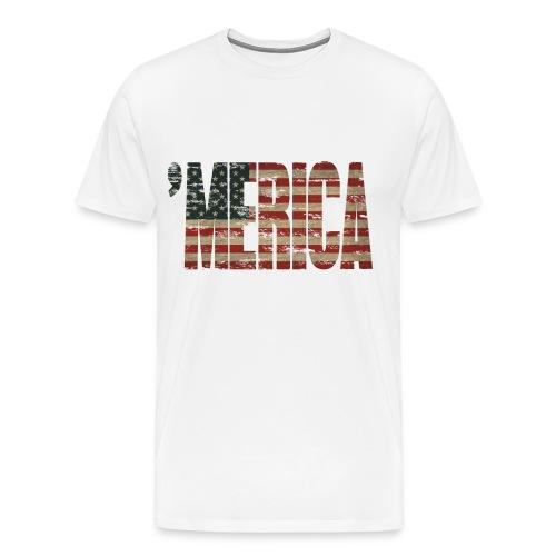 Vintage US flag tee - Men's Premium T-Shirt