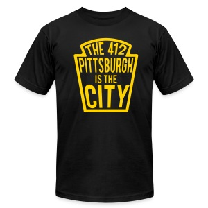 Pittsburgh412 - Men's T-Shirt by American Apparel